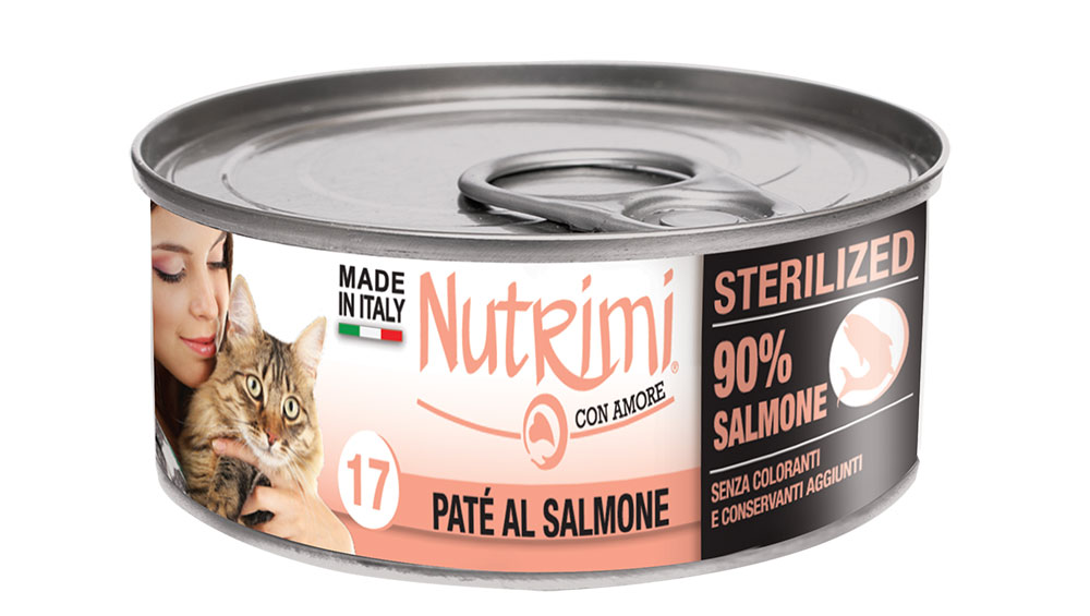 nutrimi cat 85g salmone sterilized