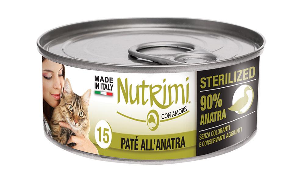 nutrimi cat 85g anatra sterilized