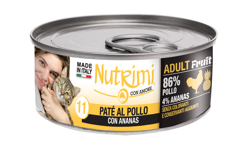nutrimi cat 85g pollo adult fruit