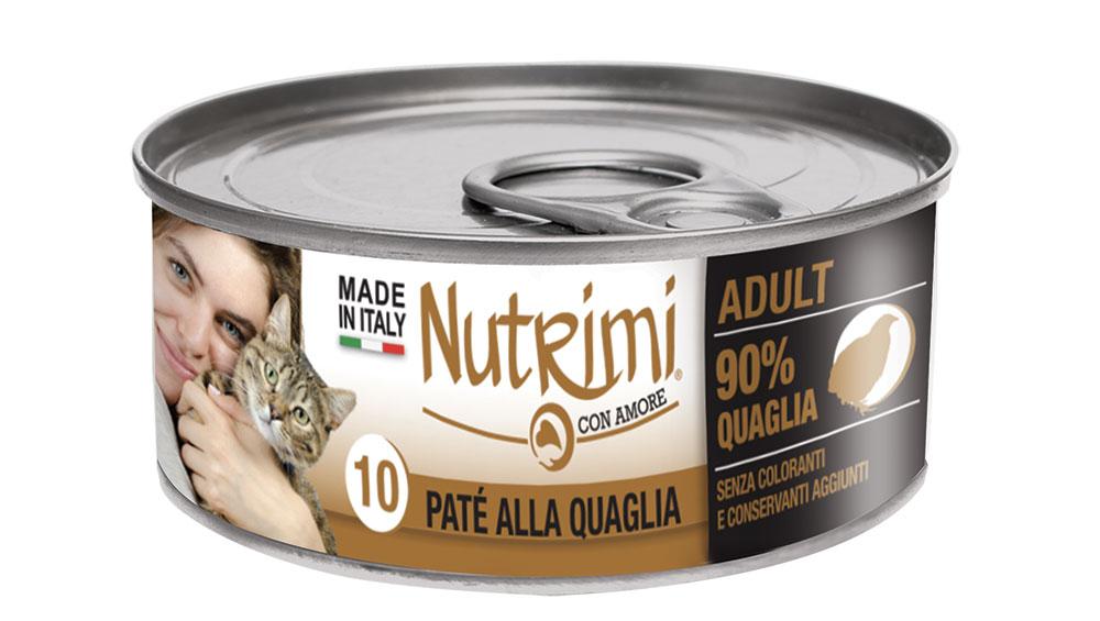 nutrimi cat 85g quaglia adult