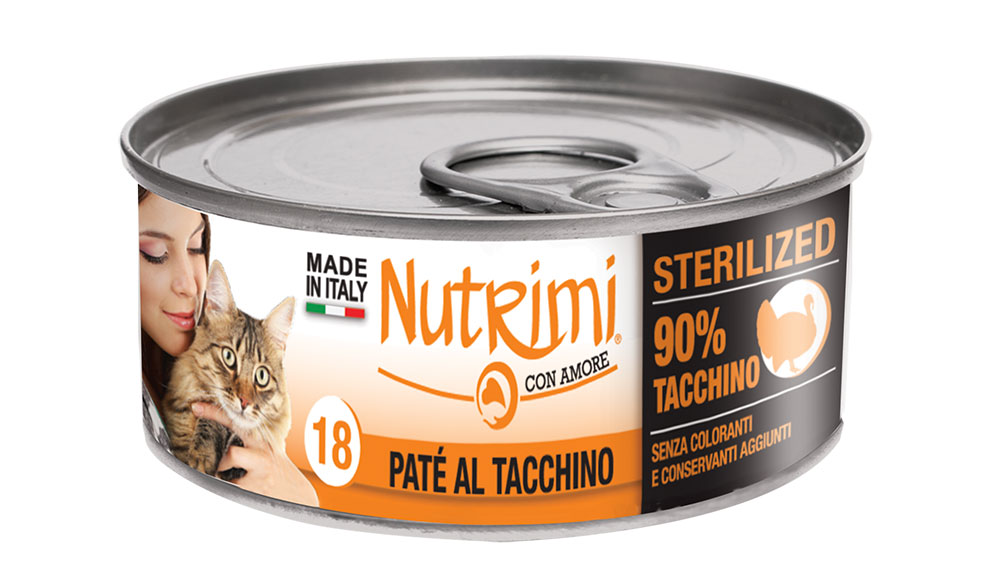 nutrimi cat 85g tacchino sterilized